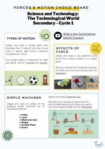 Secondary Cycle 1 – Forces & Motion Download PDF