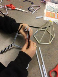 OCS STEAM math challenges, making structures