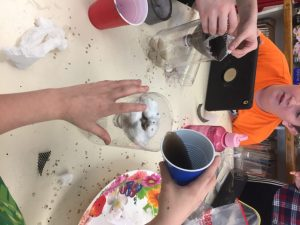 Students completing the Clean Water Factory challenge