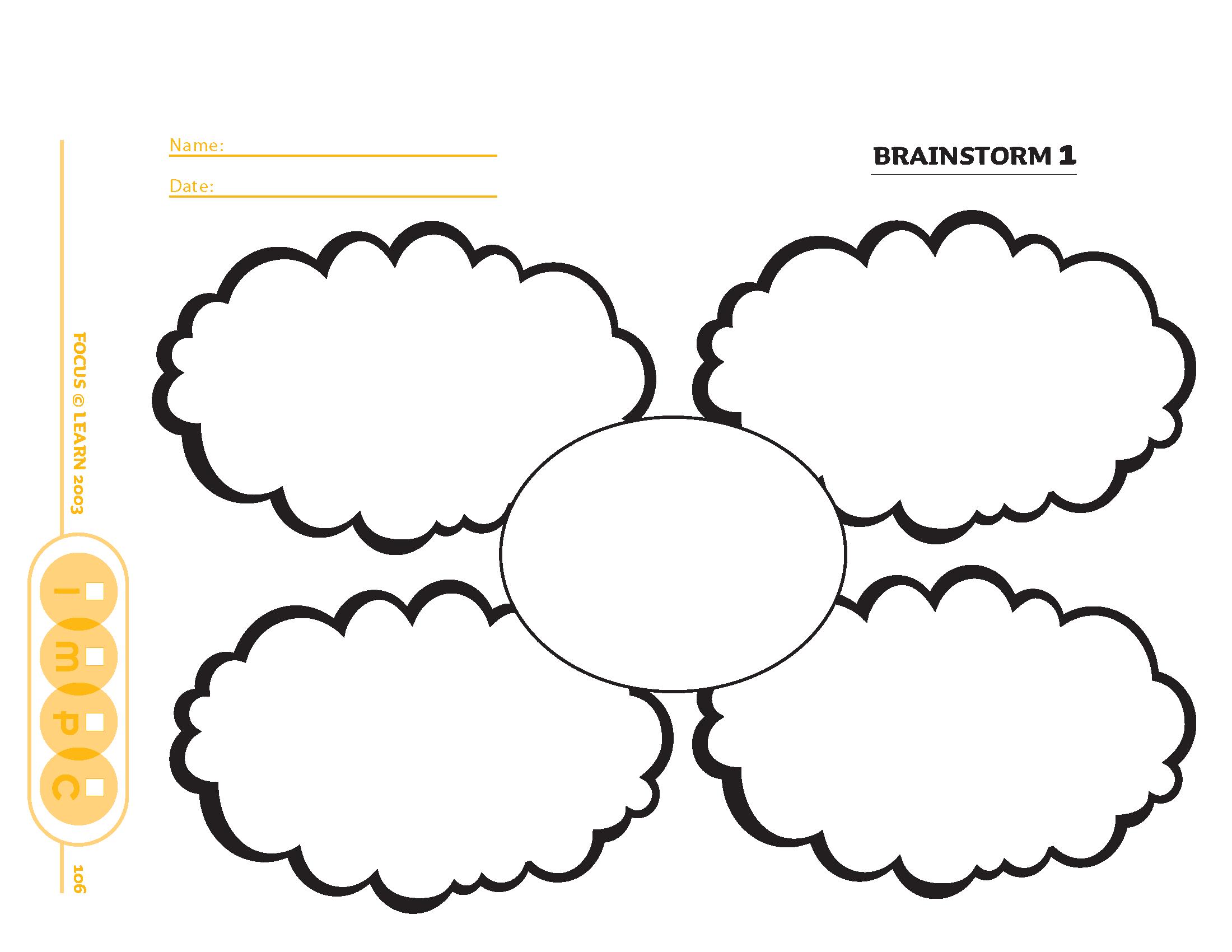 Brainstorm Organizer 1