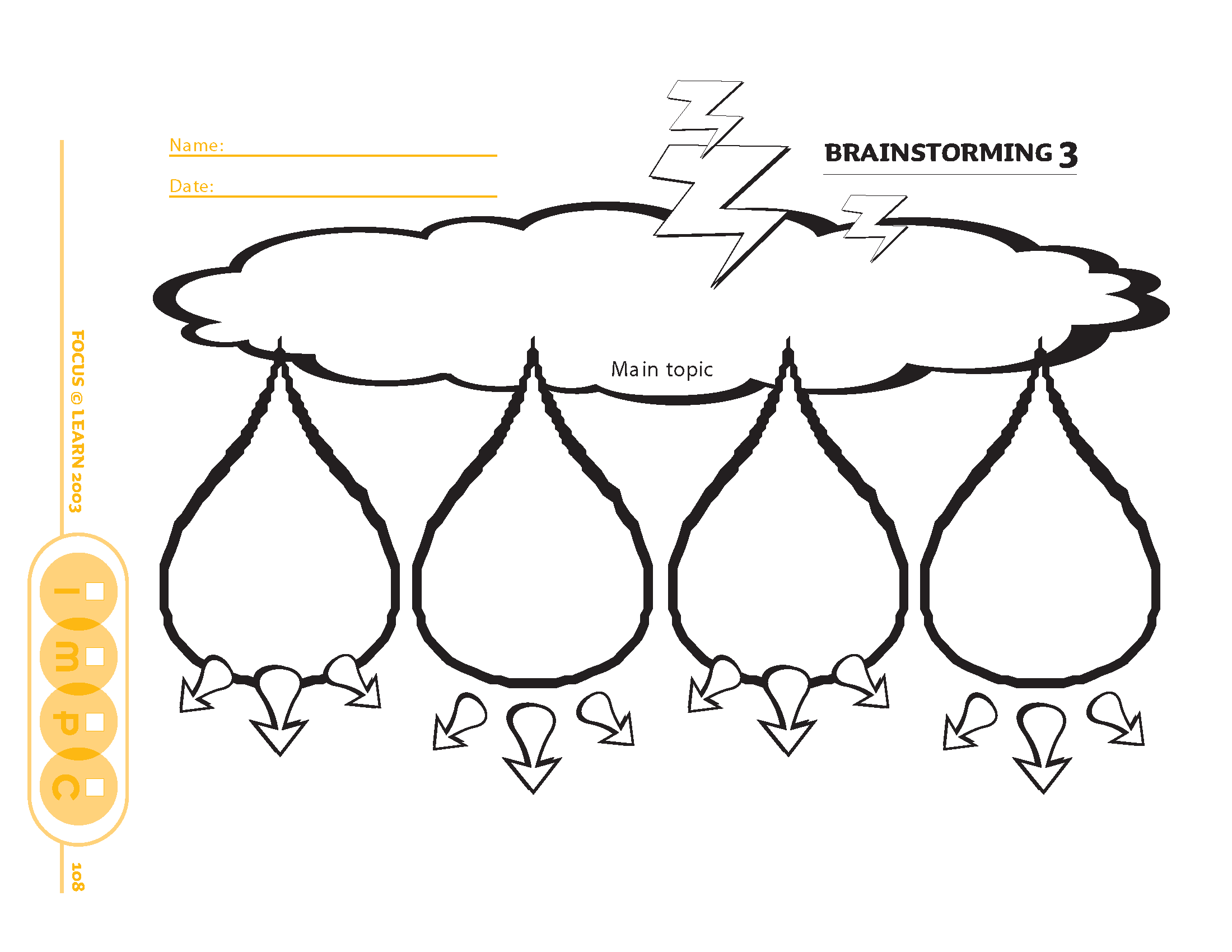 Brainstorming Organizer 3