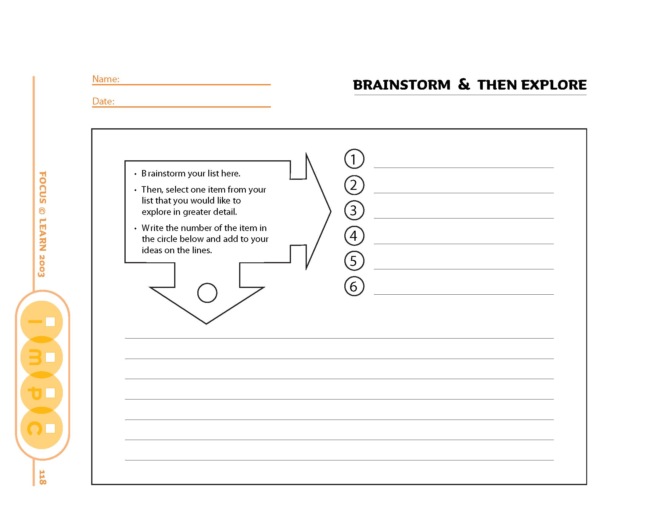 Brainstorm and Then Explore